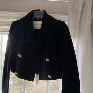 NWT❤️Zara beautiful cropped blazer velvety M-L